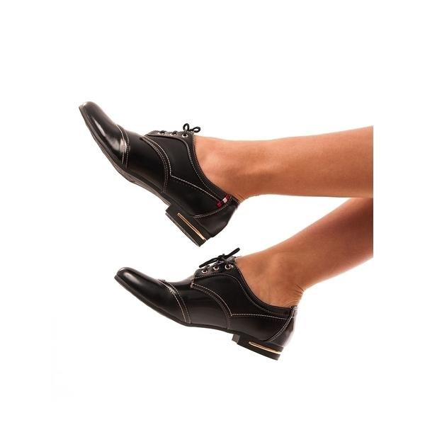 Pantofi Dama Usor Lacuiti Lacuna Negri