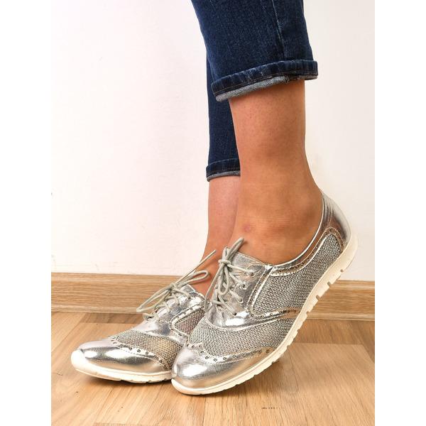 Pantofi Dama Sport Cu Perforatii Impress Argintii