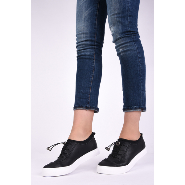 Pantofi Dama Sport Cu Siret Elastic Mysterious Negri