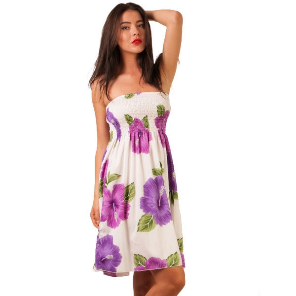 Rochie Dama Solar Detroit Short White&Purple