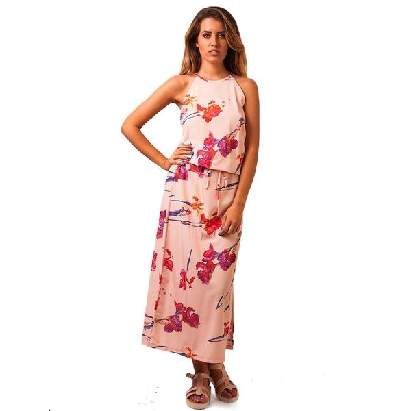 Rochie Dama Beauty Flowers Pink
