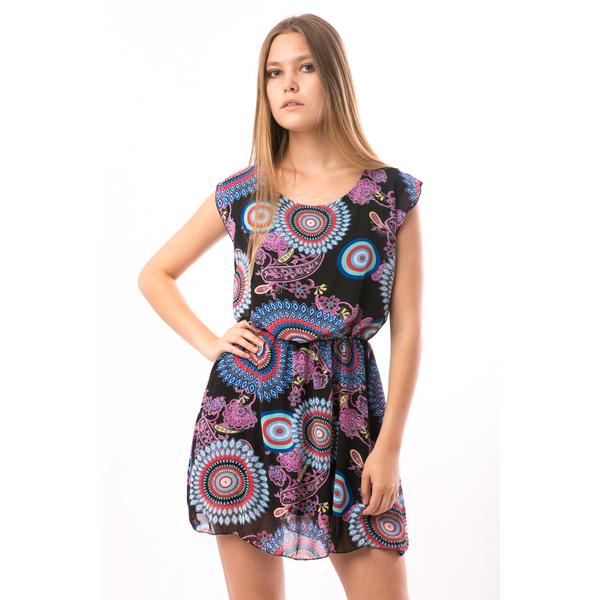 Rochie Dama Voal Sara Multicolour