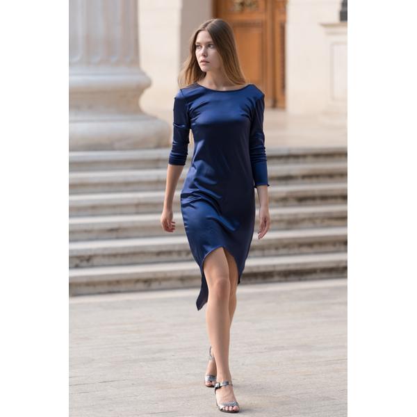 Rochie Dama Midi Elegance Albastru