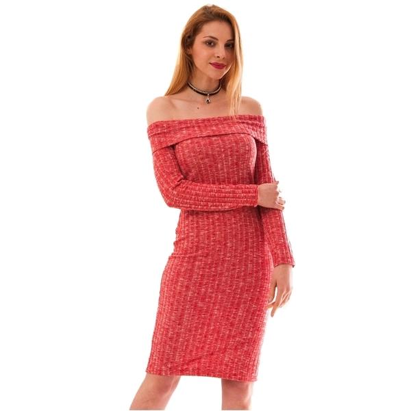 Rochie Mulata Cu Model Texturat Stranger Roz