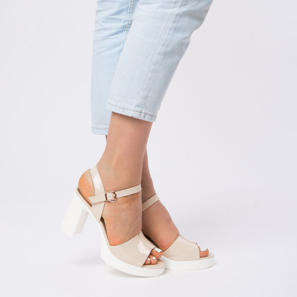 Sandale Dama Lacuite Brianna Bej