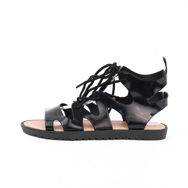 Sandale Dama Cu Siret HightLive Negre