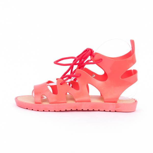 Sandale Dama Cu Siret HightLive Corai
