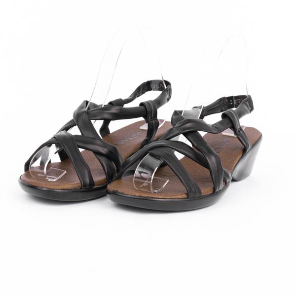 Sandale Dama Cu Toc Si Barete Din Piele Ecologica Mara Negru