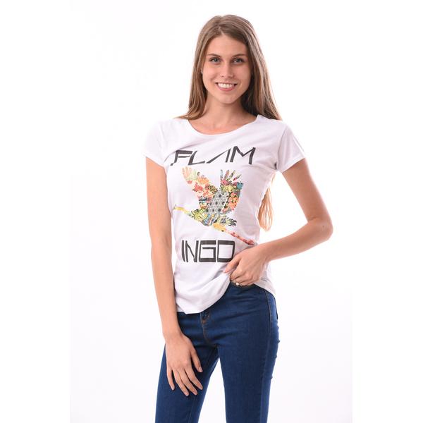 Tricou Flamingo Alb