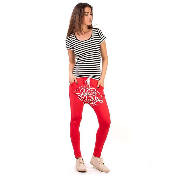 Pantaloni Sport quot;The Big Applequot; Red