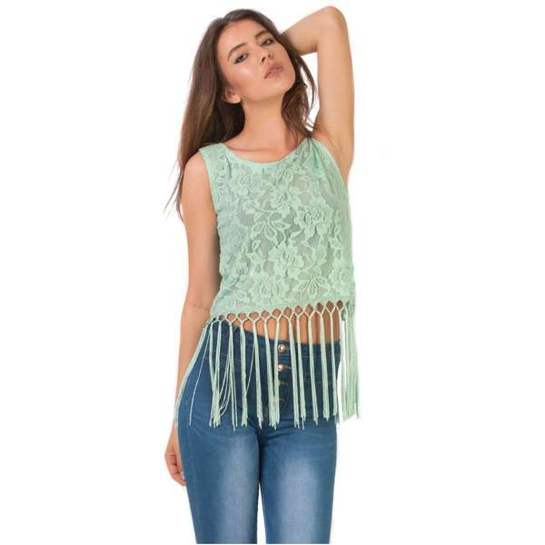 Top Large Fringe Base Lace