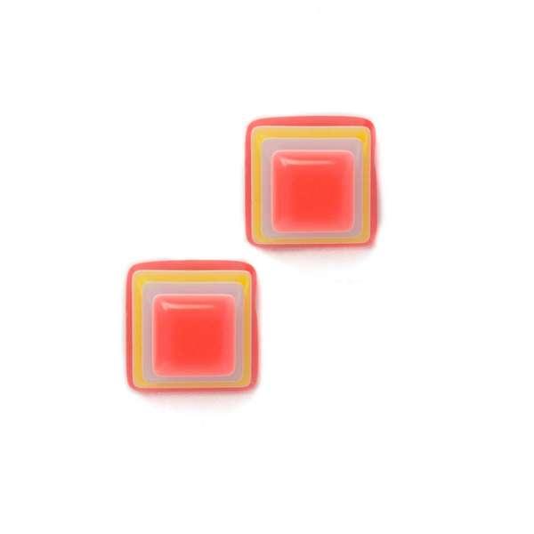Cercei Square Candy Neon Coral