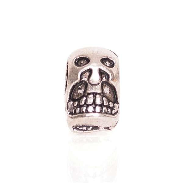 Talisman Bratara Skull Charm Silver