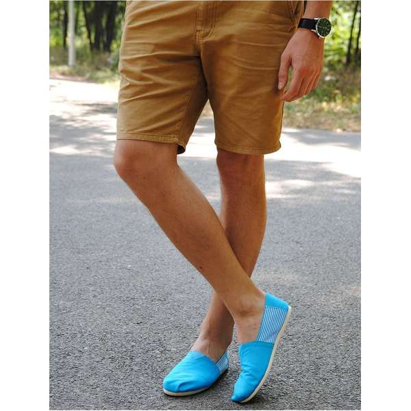 Espadrile Barbatesti Reach For The Sky Blue & White