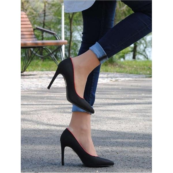 Pantofi Spring Fringe Black