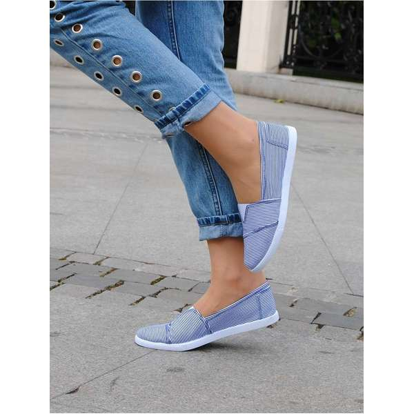 Espadrile Fit Me Blue & White