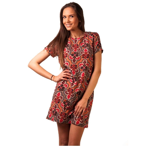 Rochie Panza Love This Day Red&brown