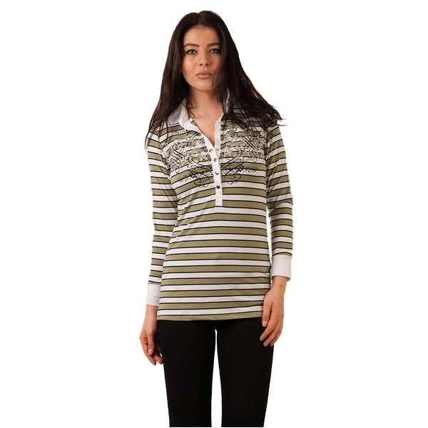 Bluza Dama Cu Imprimeu Metalic Verde Si Alb