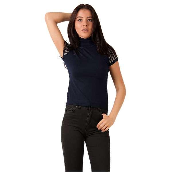 Bluza Dama Cu Guler Roll Bleumarin