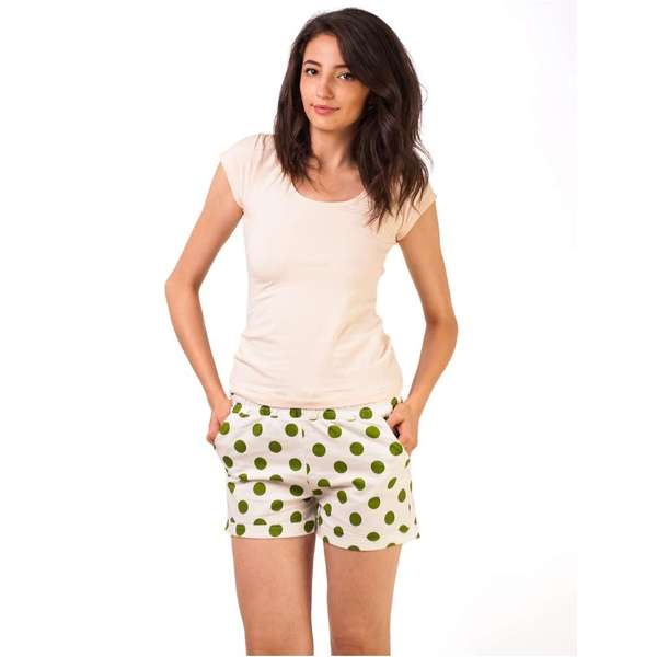 Pantaloni Scurti Big Dots Dust Green