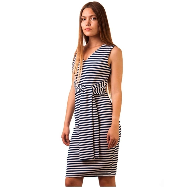 Rochie Casual Lips Stripes Navy & White