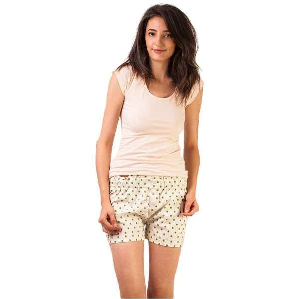 Pantaloni Scurti Little Dots Dust Green