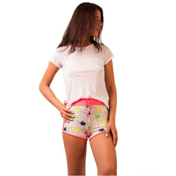 Pantaloni Scurti Stars Dandy Pink&white