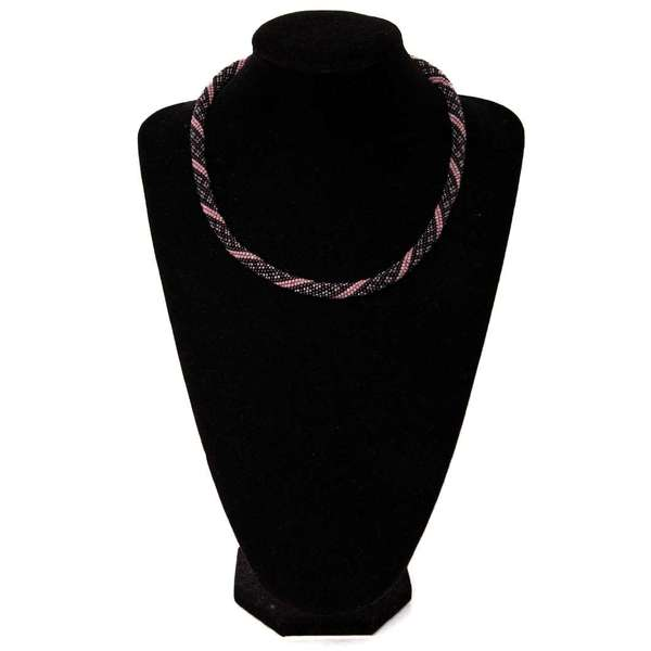Colier Future Moon Black&pink