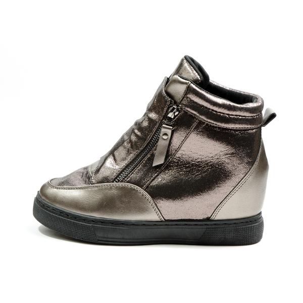Sneakers Dama Cu Platforma PistolOn Gri Metalizat