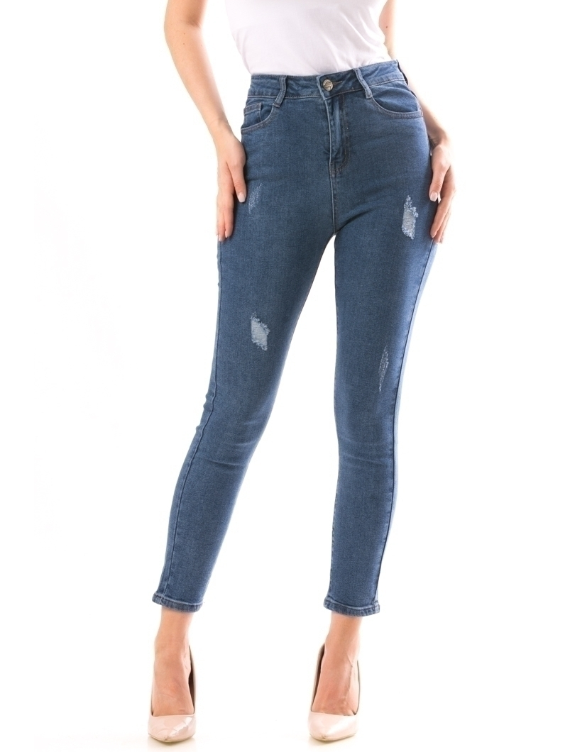 Jeans Dama KushSwag Albastru | angrozenda.ro