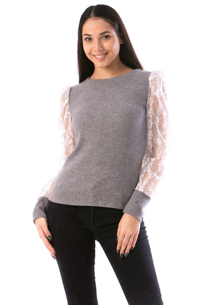 calitate superioară vânzare Statele Unite online retailer online Bluza Dama ElegantSleeve Gri Haine si incaltaminte en-gros ...