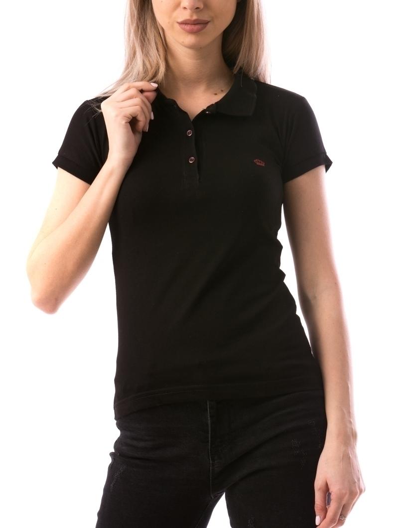 Tricou Dama CrownPolo10 Negru