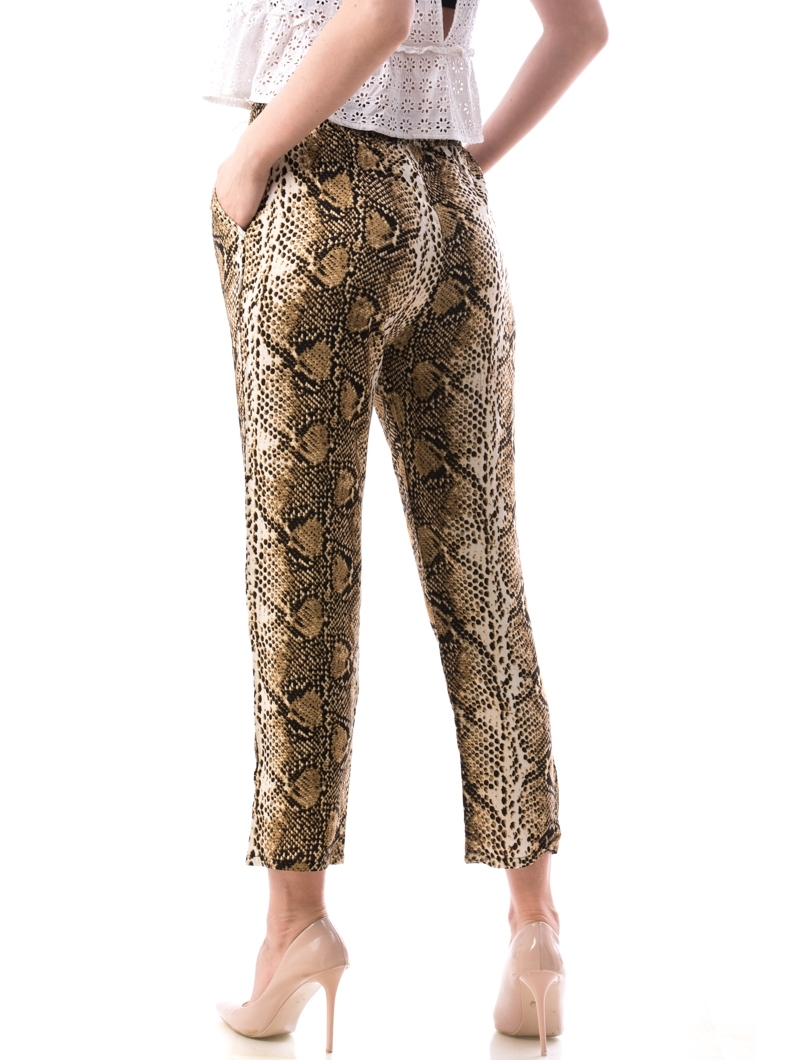 Pantaloni Dama Bumbac Ylos Bej