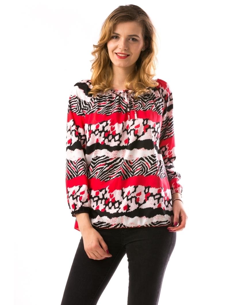 Bluza Dama PrintyAnn Rosu | angrozenda.ro