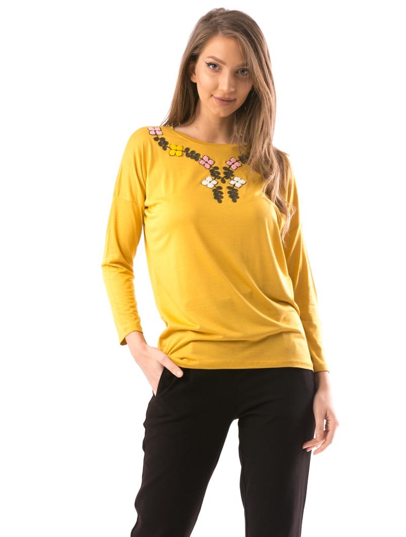 magazin oficial mai tarziu frumuseţe Bluza Dama IzyBabe Mustar