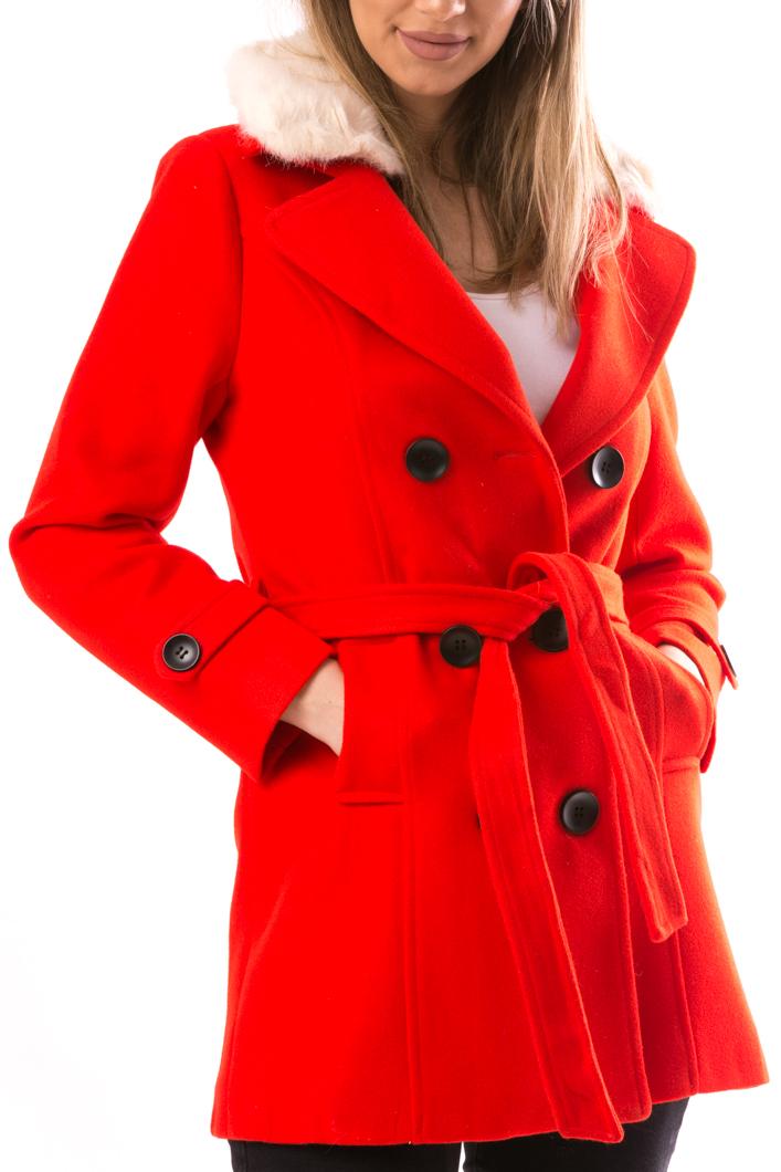 Palton Dama NiceToHave12 Rosu-2