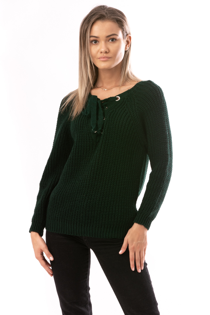 Pulover Dama HippieWool Verde