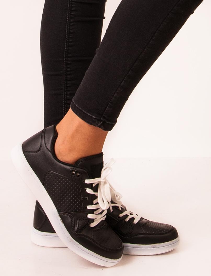 Adidasi Stil Clasic Dama Negru