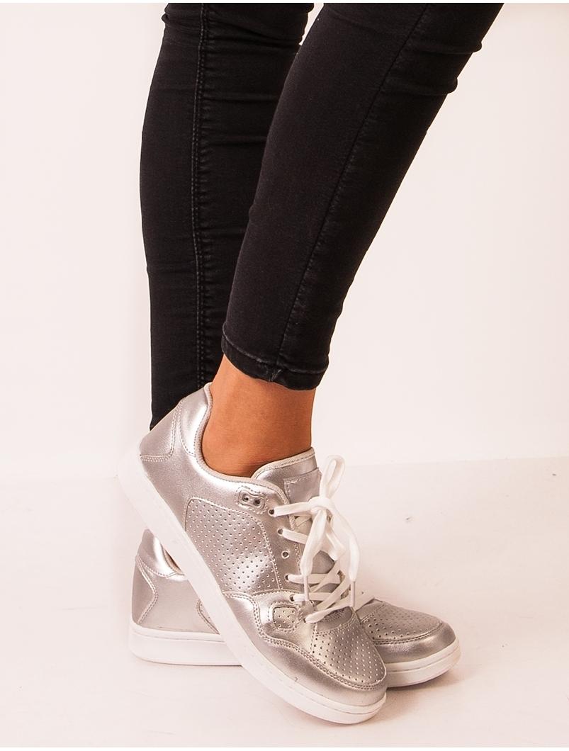 Adidasi Stil Clasic Dama Argintiu