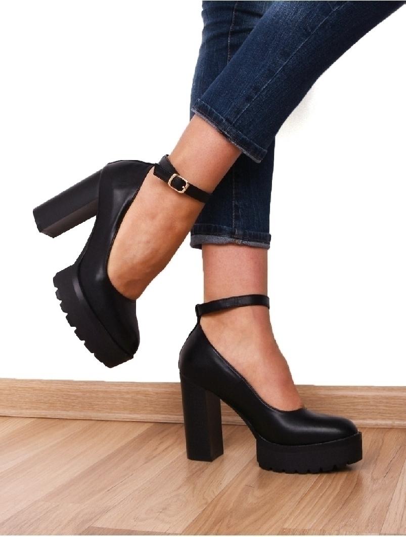 nuante de magazin de desfacere magazin online Pantofi Dama Cu Platforma Si Bareta Sometimes Negre Haine si ...