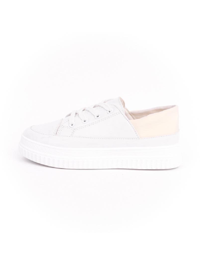 Pantofi Dama Cu Siret ColloredOne Alb