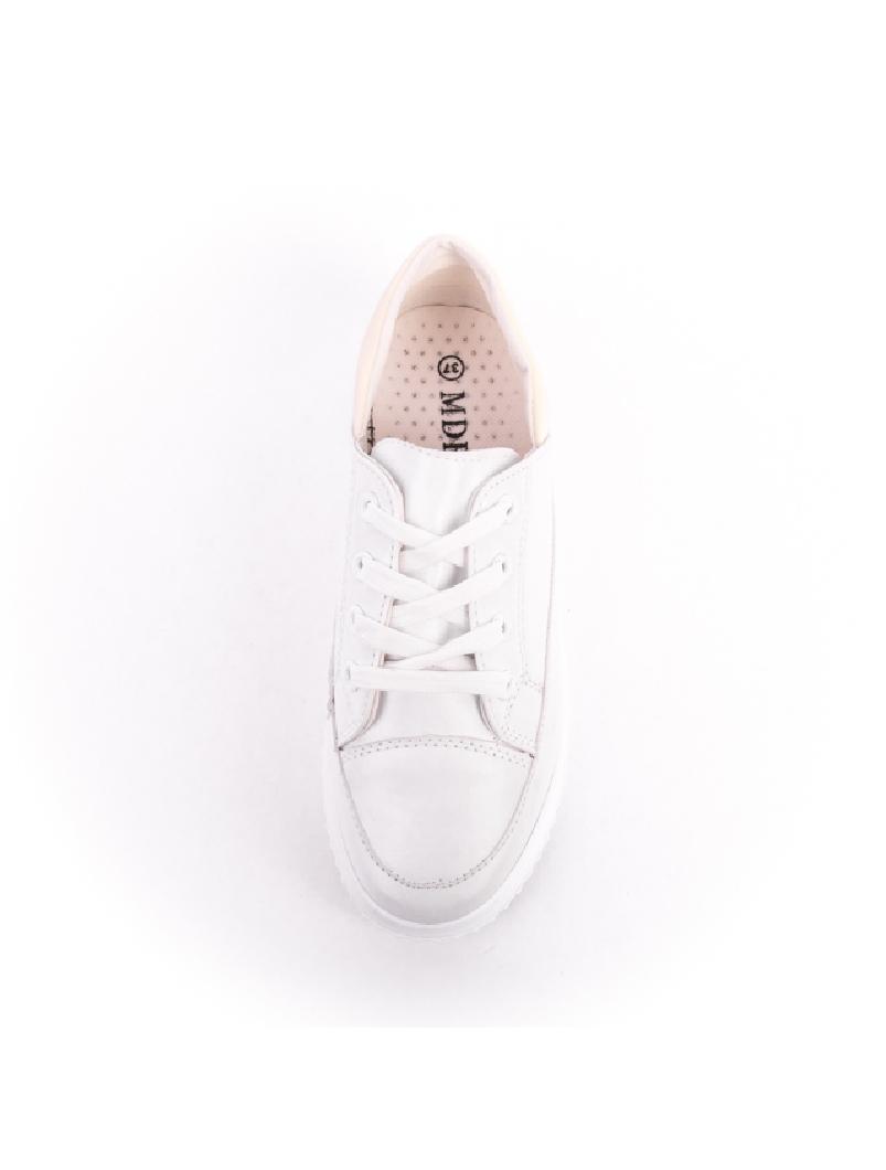 Pantofi Dama Cu Siret ColloredOne Alb-2